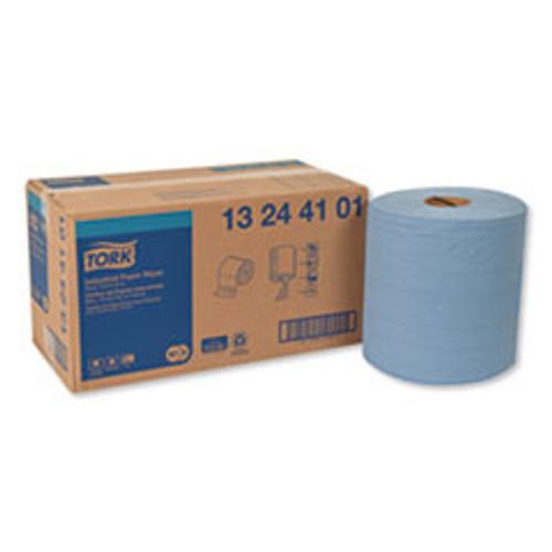 Tork Industrial Paper Wiper  4-Ply  11 x 15 75  Blue  375 Wipes Roll  2 Roll Carton (TRK13244101)