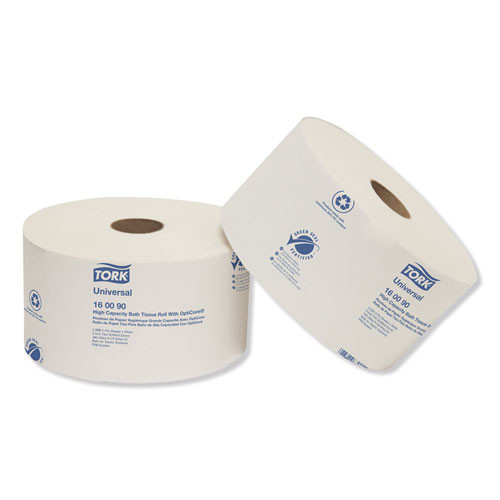 Tork Universal High Capacity Bath Tissuel w OptiCore  Septic Safe  2-Ply  White  2000 Roll  12 Carton (TRK160090)