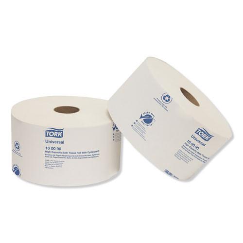 Tork Universal High Capacity Bath Tissuel w OptiCore  Septic Safe  2-Ply  White  2000 Roll  12 Carton (TRK160090)
