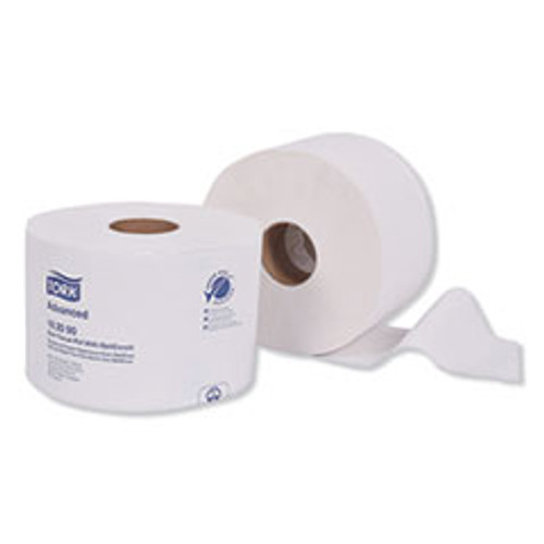 Tork Advanced Bath Tissue Roll with OptiCore  Septic Safe  2-Ply  White  865 Sheets Roll  36 Carton (TRK162090)
