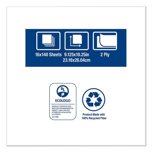 Tork Windshield Towel  9 13 x 10 25  Blue  140 Pack  16 Packs Carton (TRK192122)