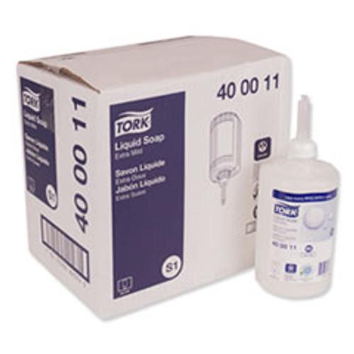 Tork Premium Extra Mild Liquid Soap  Unscented  1 L  6 Carton (TRK400011)