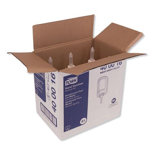 Tork Premium Alcohol Gel Hand Sanitizer  1 L Bottle  Light Scent  6 Carton (TRK400016)