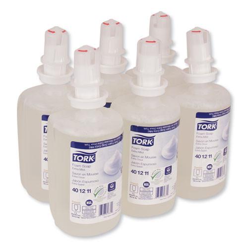 Tork Premium Extra Mild Foam Soap  Unscented  1 L  6 Carton (TRK401211)