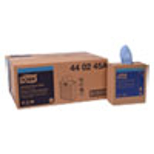 Tork Industrial Paper Wiper  4-Ply  8 54 x 16 5  Blue  90 Towels Box  10 Box Carton (TRK440245A)