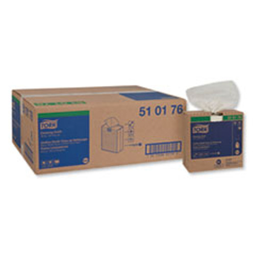 Tork Cleaning Cloth  8 46 x 16 13  White  100 Wipes Box  10 Boxes Carton (TRK510176)