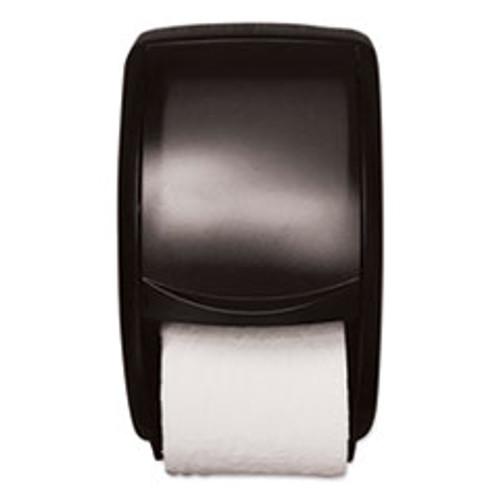 Tork Twin Standard Roll Bath Tissue Dispenser  Plastic  7 5 x 7 x 12 75  Smoke (TRK55TR)