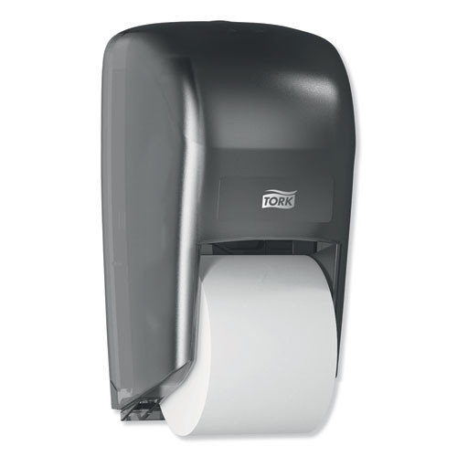 Tork Twin Bath Tissue Roll Dispenser for OptiCore  6 75 x 7 x 12 31  Black (TRK565628)