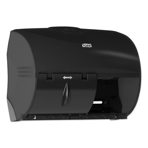 Tork Twin Bath Tissue Roll Dispenser for OptiCore  11 06 x 7 18 x 8 81  Black (TRK565728)