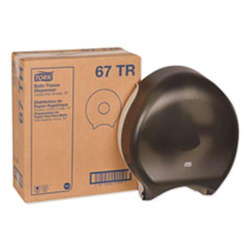 Tork Jumbo Bath Tissue Dispenser  12 9 x 5 8 x 14 9  Smoke (TRK67TR)