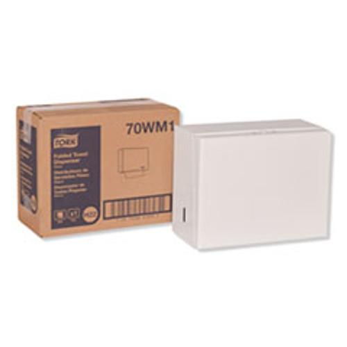 Tork Singlefold Hand Towel Dispenser  11 75  x 5 75  x 9 25   White (TRK70WM1)