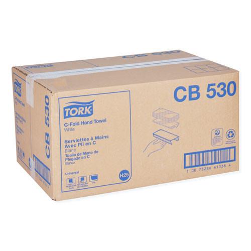 Tork Universal C-Fold Hand Towel  1-Ply  10 13 x 12 75  White  150 Pack  16 Packs Carton (TRKCB530)