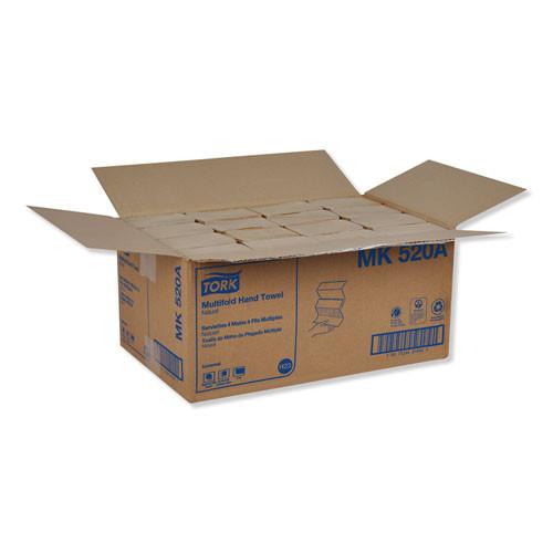 Tork Multifold Hand Towel  9 13 x 9 5  Natural  250 Pack  16 Packs Carton (TRKMK520A)