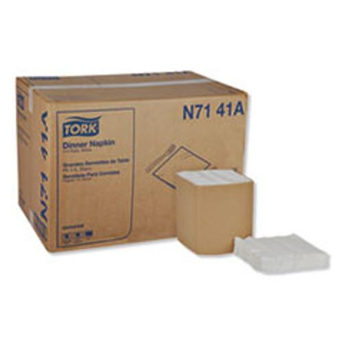 Tork Universal Dinner Napkins  1-Ply  17  x 17   1 4 Fold  White  4008 Carton (TRKN7141A)