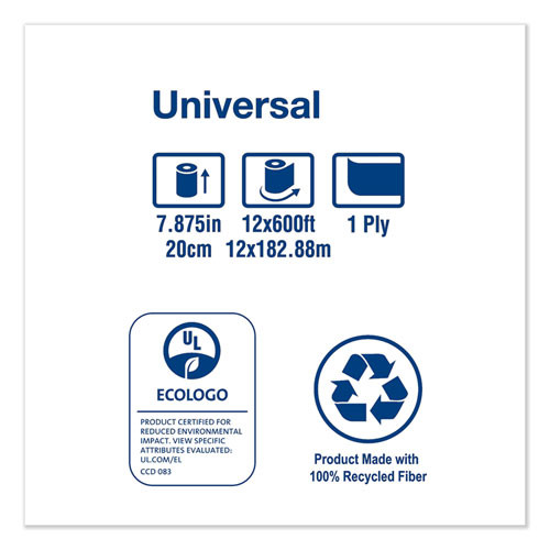 Tork Universal Hardwound Roll Towel  7 88  x 600 ft  Natural  12 Carton (TRKRK600E)