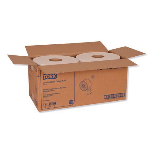 Tork Universal Jumbo Bath Tissue  Septic Safe  2-Ply  White  3 48  x 2 000 ft  6 Carton (TRKTJ1222A)