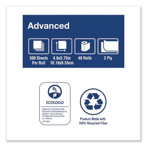 Tork Advanced Bath Tissue  Septic Safe  2-Ply  White  500 Sheets Roll  48 Rolls Carton (TRKTM6130S)