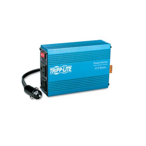 Tripp Lite PowerVerter Ultra-Compact Car Inverter  375W  12V Input 120V Output  2 Outlets (TRPPV375)