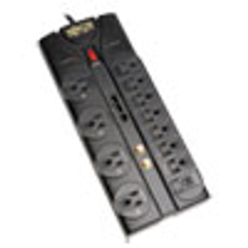 Tripp Lite Protect It  Surge Protector  12 Outlets  8 ft  Cord  2880 Joules  Black (TRPTLP1208SAT)