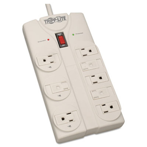 Tripp Lite Protect It  Surge Protector  8 Outlets  8 ft  Cord  1440 Joules  Light Gray (TRPTLP808)