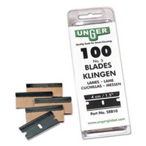 Unger Safety Scraper Replacement Blades   9  Stainless Steel  100 Box (UNGSRB30)