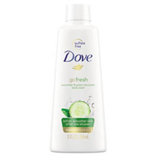 Dove Body Wash  Cucumber and Green Tea  3 oz  24 Carton (UNI17266CT)