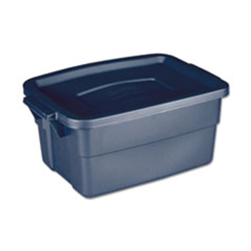 Rubbermaid Roughneck Storage Box  10 5 8w x 15 687d x 7h  Dark Indigo Metallic (UNXRMRT030003)