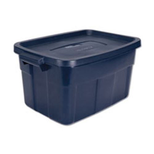 Rubbermaid Roughneck Storage Box  15 7 8w x 23 7 8d x 12 1 4h  Dark Indigo Metallic (UNXRMRT140008)