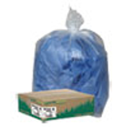 Earthsense Commercial Linear Low Density Clear Recycled Can Liners  23 gal  1 25 mil  28 5  x 43   Clear  150 Carton (WBIRNW4310C)