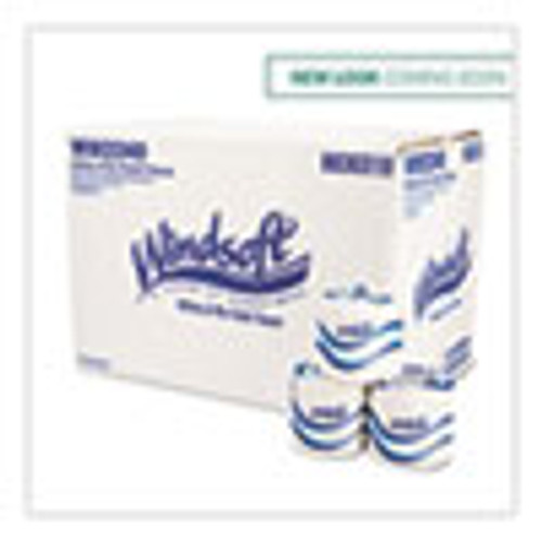 Windsoft Bath Tissue  Septic Safe  2-Ply  White  4 x 3 75  500 Sheets Roll  96 Rolls Carton (WIN2240B)