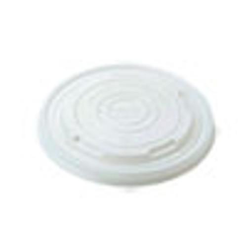 World Centric Paper Bowls Lids  4 6  x 4 6  x 0 5   White  1 000 Carton (WORBOLCS12)