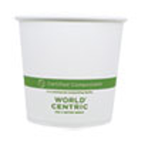 World Centric Paper Bowls  4 4  dia x 4 4   24 oz  White  500 Carton (WORBOPA24)