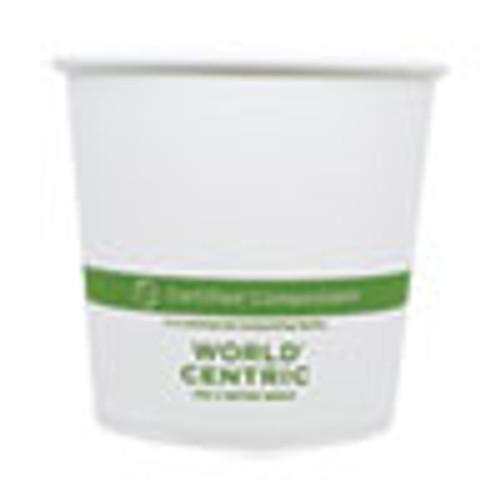 World Centric Paper Bowls  4 4  dia x 4 4   24 oz  White  500 Carton (WORBOPA24)