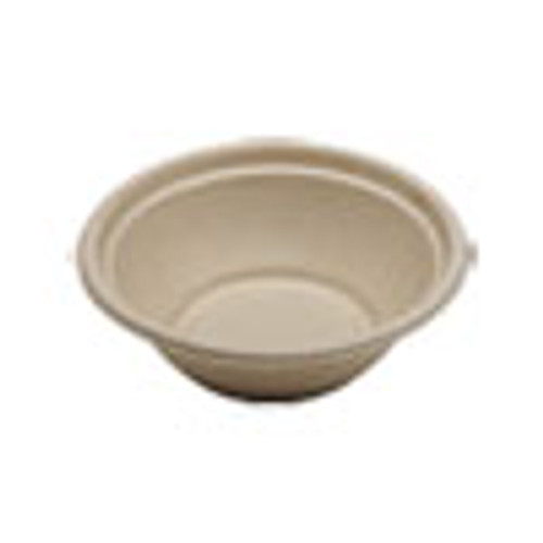 World Centric Fiber Bowls  7 4  dia x 2 3   24 oz  Natural  500 Carton (WORBOSCU24)