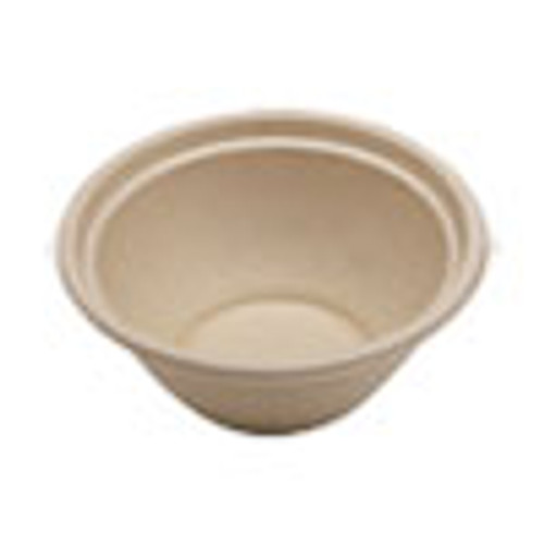 World Centric Fiber Bowls  7 4  dia x 3 2   32 oz  Natural  500 Carton (WORBOSCU32)