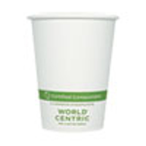 World Centric Paper Hot Cups  12 oz  White  1 000 Carton (WORCUPA12)