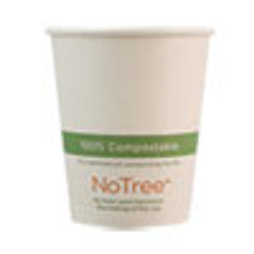 World Centric NoTree Paper Hot Cups  6 oz  Natural  1 000 Carton (WORCUSU6)