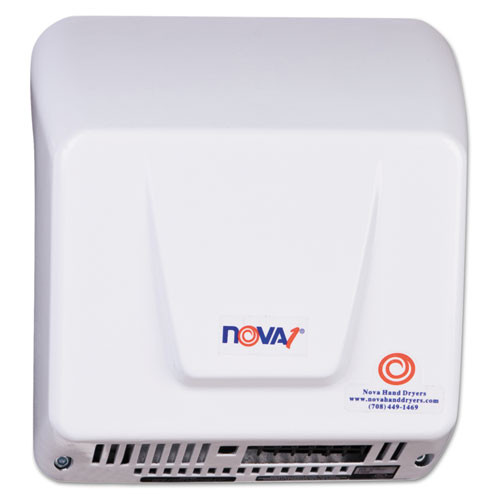 WORLD DRYER NOVA Hand Dryer  110-240V  Aluminum  White (WRL083000000)
