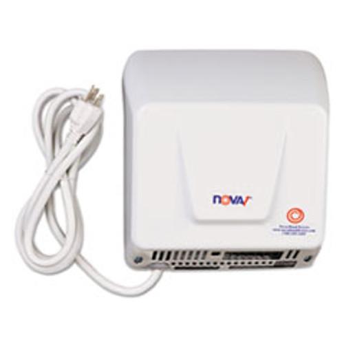 WORLD DRYER NOVA Hand Dryer  110-120V  Aluminum  White (WRL083300000P)
