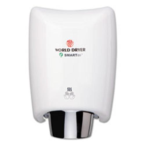 WORLD DRYER SMARTdri Hand Dryer  Aluminum  White (WRLK974A2)