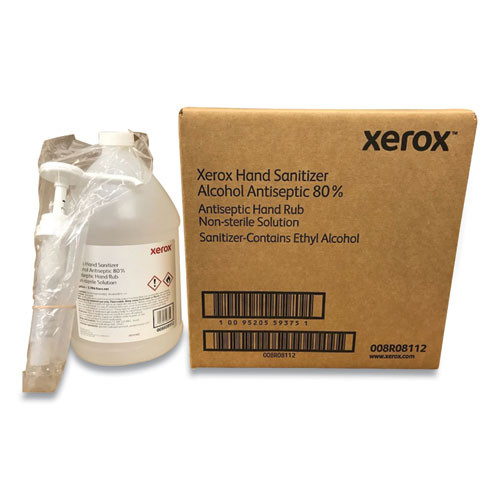 Xerox Hand Sanitizer  1 gal Bottle with Pump  Unscented  4 Carton (XER008R08112)