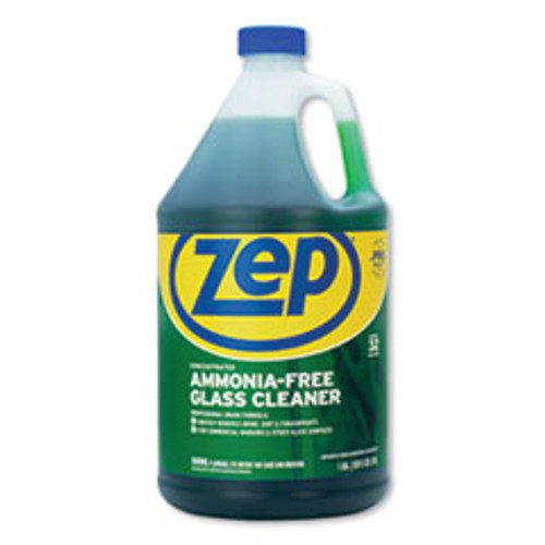 Zep Commercial Ammonia-Free Glass Cleaner  Pleasant Scent  1 gal Bottle  4 Carton (ZPEZU1052128CT)