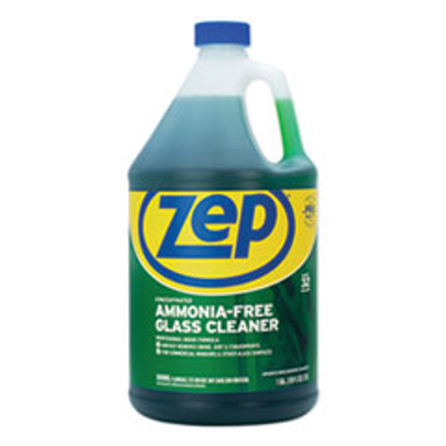 Zep Commercial Ammonia-Free Glass Cleaner  Pleasant Scent  1 gal Bottle (ZPEZU1052128EA)
