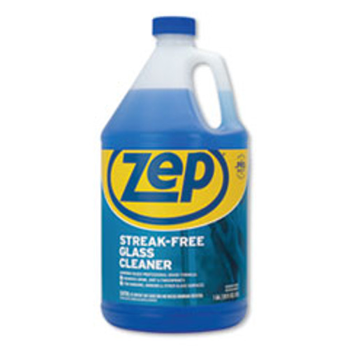 Zep Commercial Streak-Free Glass Cleaner  Pleasant Scent  1 gal Bottle  4 Carton (ZPEZU1120128CT)