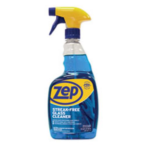 Zep Commercial Streak-Free Glass Cleaner  Pleasant Scent  32 oz Spray Bottle  12 Carton (ZPEZU112032CT)