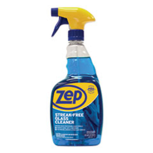 Zep Commercial Streak-Free Glass Cleaner  Pleasant Scent  32 oz Spray Bottle (ZPEZU112032EA)