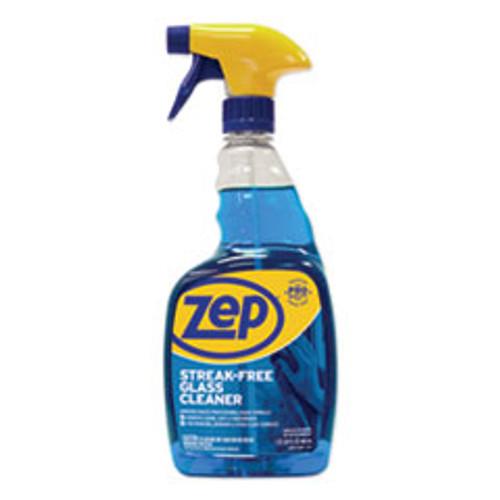 Zep Commercial Streak-Free Glass Cleaner  Pleasant Scent  32 oz Spray Bottle (ZPEZU112032EA)