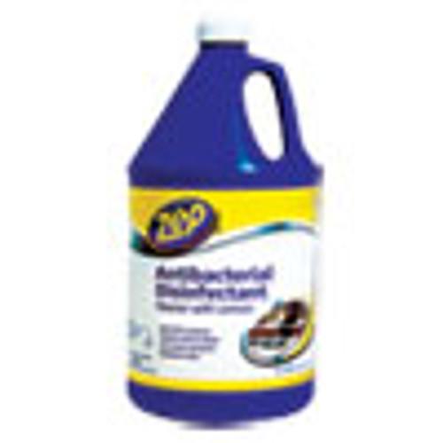 Zep Commercial Antibacterial Disinfectant  Lemon Scent  1 gal  4 Carton (ZPEZUBAC128CT)