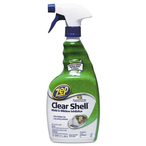 Zep Commercial Clear Shell Mold   Mildew Inhibitor  32 oz Spray Bottle  12 Carton (ZPEZUCSM32CT)