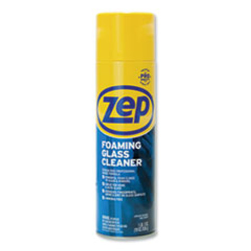 Zep Commercial Foaming Glass Cleaner  Pleasant Scent  19 oz Bottle  12 Carton (ZPEZUFGC19CT)